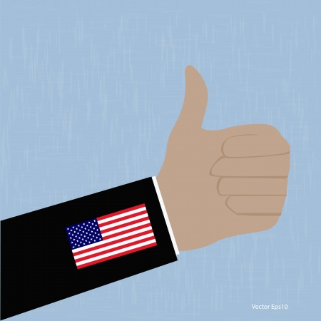 USA Like Thumbs Up symbol  vector Eps10 illustration  Stock Vector - 18216705