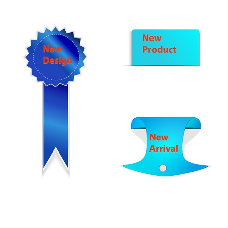 Modern Blue New Design, Arrival Product Labels Set Stock Vector - 18316220