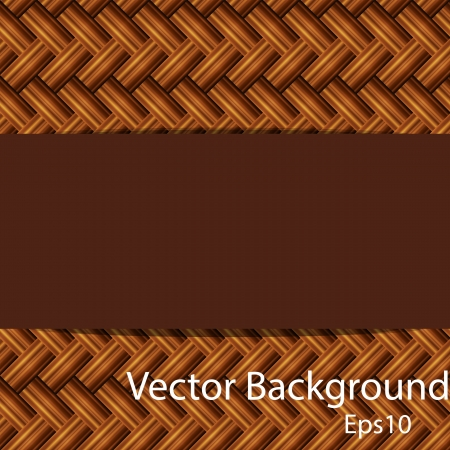 bamboo mat: Seamless brown bamboo mat texture  Vector eps10