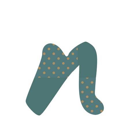 n polka dots alphabets design Vector