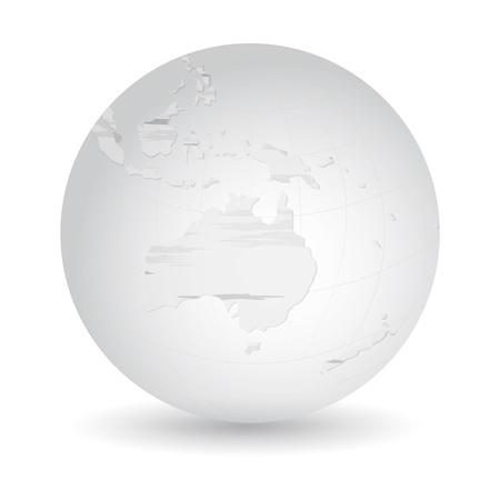 grune: Globe icon with hand drawn map