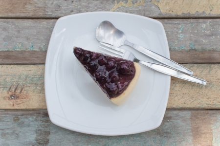 blueberry cheesecake  photo
