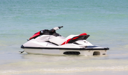 Jet ski or water scooter on Thalland ocean photo