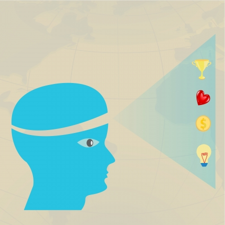 Brain thinking    Successful concept Vector