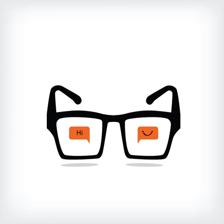 Eye glasses with love heart icon ,vector eps 10 Stock Vector - 19654169