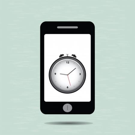 Smart phone and alarm clock Stock Vector - 20282331