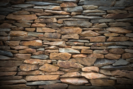 Slate stone wall for decoration photo