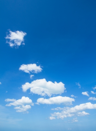 Blue sky and small  white clouds background photo