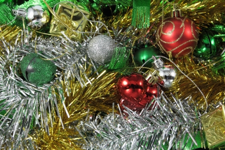 Christmas ornaments decoration useful for background photo