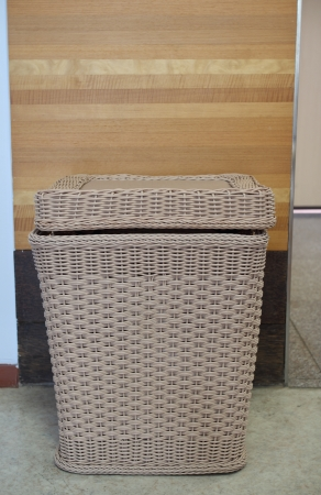 keeping room:  Bamboo basket for keeping cloths after used in the room