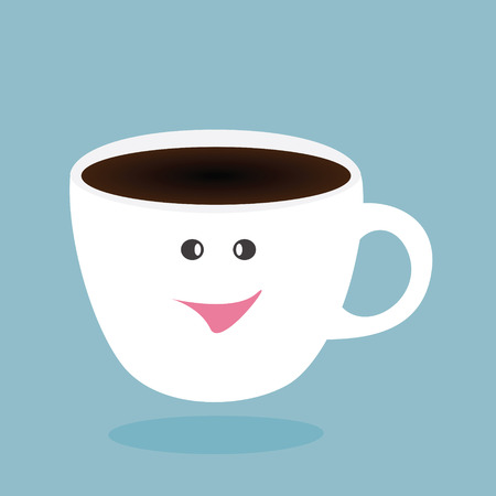 Happy coffee break,vector design Vector