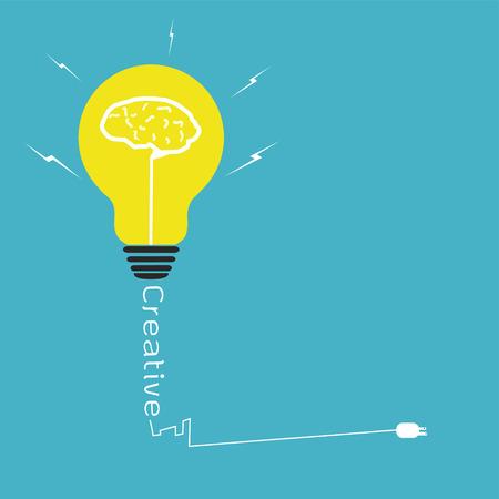 Light bulb creative idea,vector design  Vector