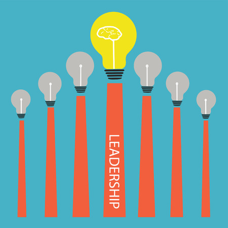 Lightbulb on graph,Vector leadership conceptual Stock Vector - 27447258