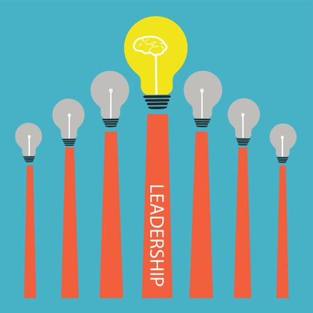 Lightbulb on graph,Vector leadership conceptual Stock Vector - 27447258
