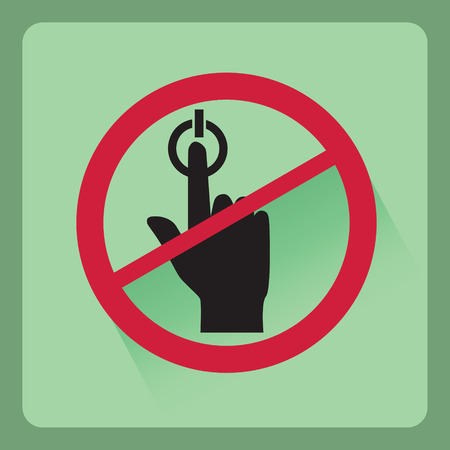 fingertip: Do not press flat icon with shadow effect,vector design Illustration