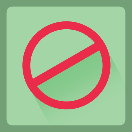 Do not sign  flat icons with shadow effect,vector design