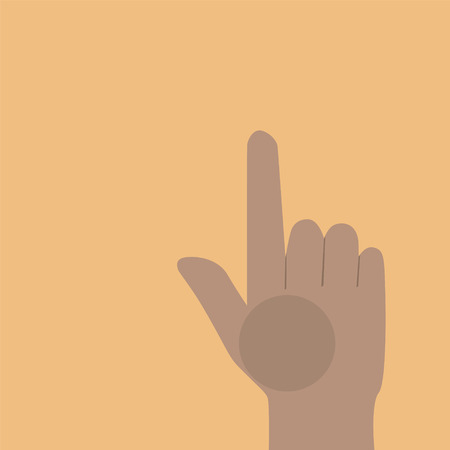 Finger pointing up  Vector