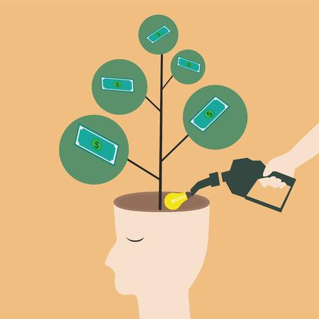 Plant a good idea get wealth Vector
