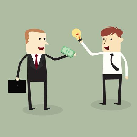 Businessmans trading idea and money,vector design