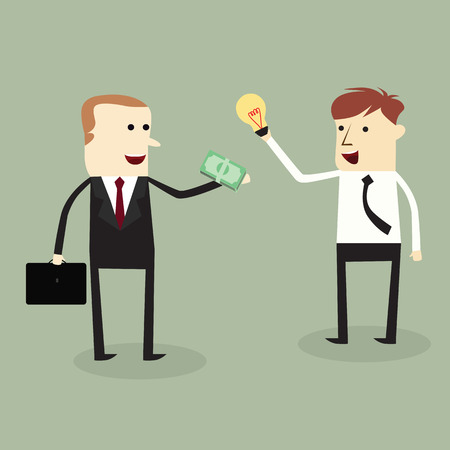 Businessmans trading idea and money,vector design