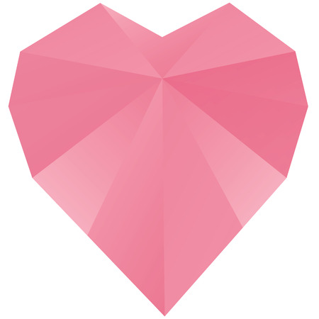 Triangle polygonal pink diamond vector design Vector