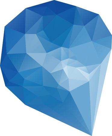 Triangle polygonal blue diamond vector design  Vector