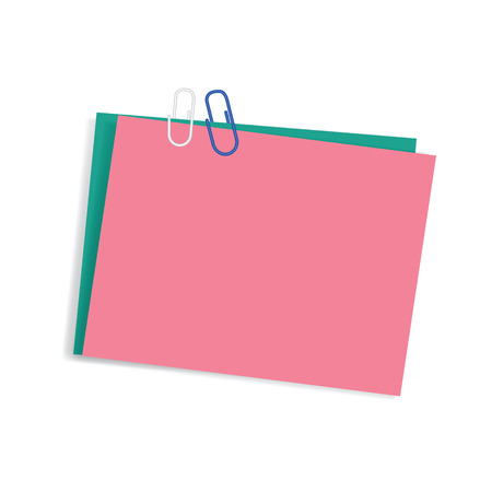 Colored post it with metal  clip