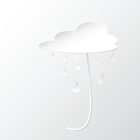 rain drop: Umbrella cloud and rain drop