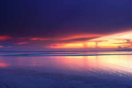 hdr: HDR panoramic tropical seascape sunset background