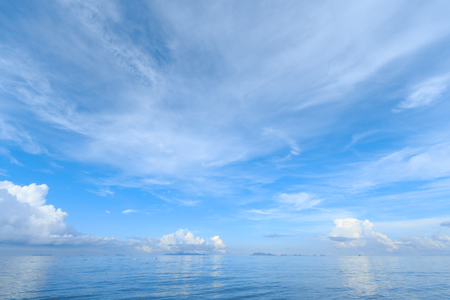 seascape: Summer seascape with blue sky background Stock Photo