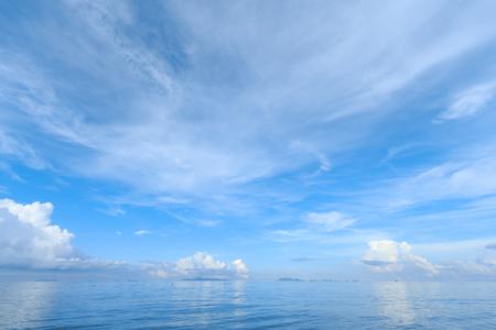 wavelet: Summer seascape with blue sky background Stock Photo