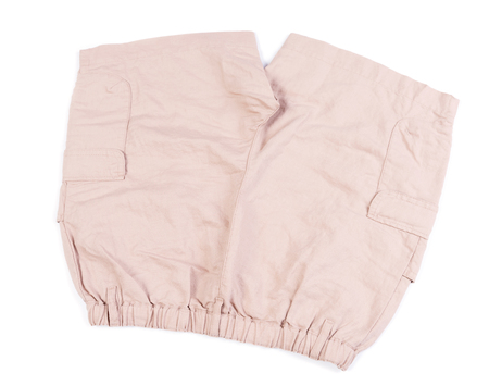 short pants: Brown short pants isolated on white