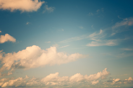evening: Vintage sky cloud background at dusk