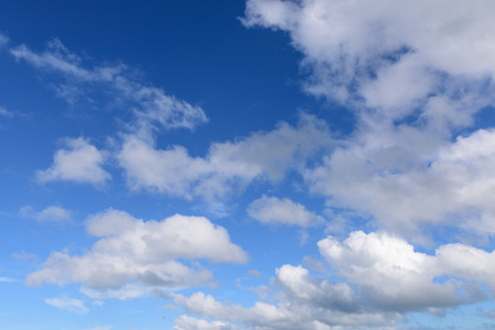 puffy: Blue sky and puffy white cloud background