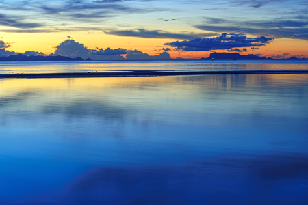 hdr background: HDR panoramic tropical seascape sunset background