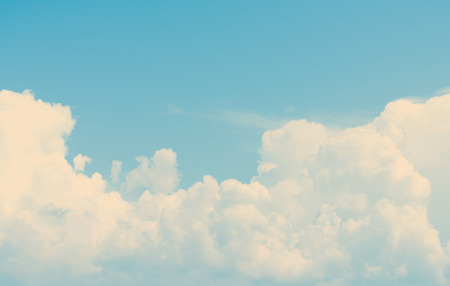 Vintage sky cloud background at dusk Stock Photo