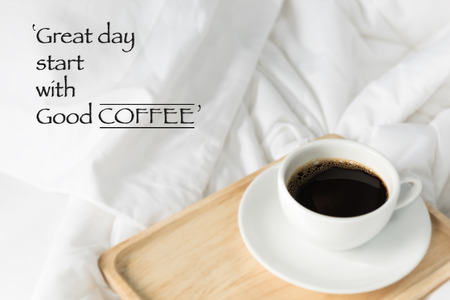 Inspiration Quote With Coffee Cup Background Photo