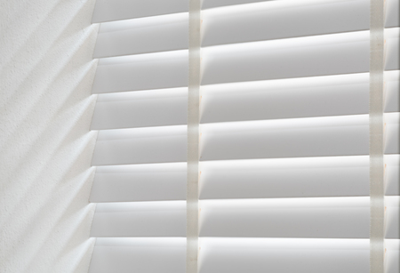 White wood modern curtain blind background Stock Photo