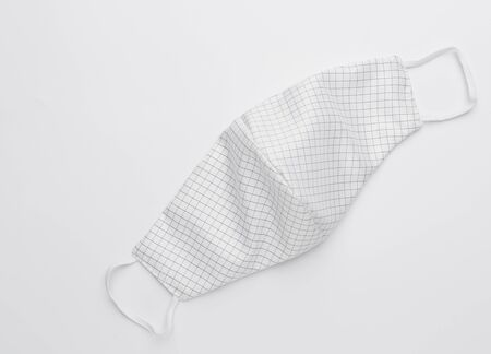 Fabric cloth mask water proof  for people use to protect from corona virus,dust  or pm.2.5 on white background