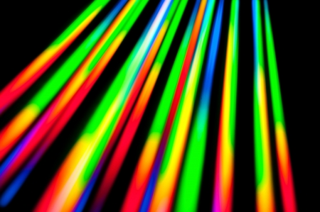 Light reflects from the surface of a cd