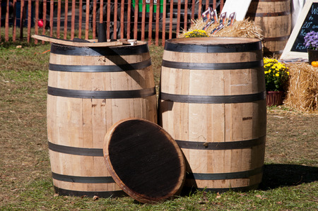 two new whiskey barrels