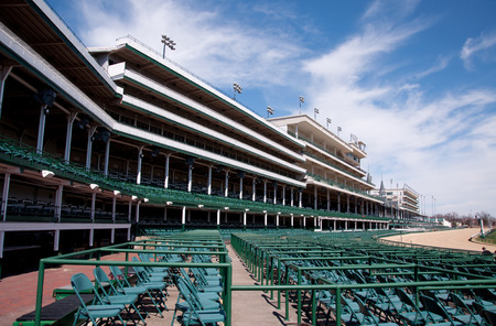 Empty Churchill Downs before the Kentucky Derby.