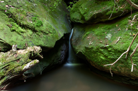 cataract falls: Cataract Falls on a stream in the Big South Fork National Recreation Area. Stock Photo
