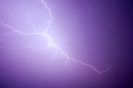 streak lightning: Dangerous lightning streaks across the sky.