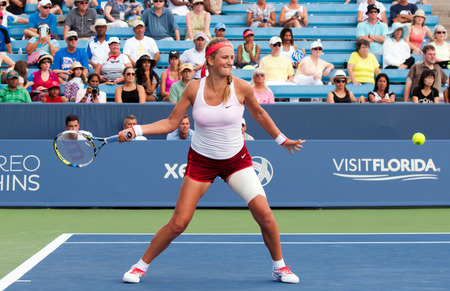 Mason, Ohio - August 18, 2015:  Victoria Azarenka at the Western and Southern Open in Mason, Ohio, on August 18, 2015.