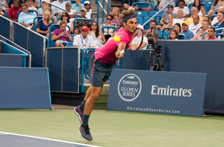 roger: Mason, Ohio - August 18, 2015:  Roger Federer at the Western and Southern Open in Mason, Ohio, on August 18, 2015.