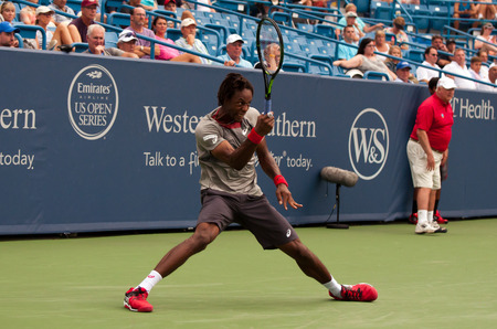 Mason, Ohio - August 17, 2015: Gael Monfils at the Western and Southern Open in Mason, Ohio, on August 17, 2015. Sajtókép