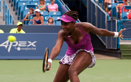 williams: Mason, Ohio - August 17, 2015: Venus Williams at the Western and Southern Open in Mason, Ohio, on August 17, 2015.