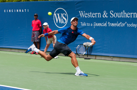Mason, Ohio - August 18, 2015:  Fernando Verdasco at the Western and Southern Open in Mason, Ohio, on August 18, 2015.