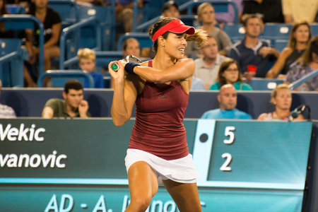 oh: Mason, Ohio - August 15, 2016: Ana Ivonavic in match against Donna Vekic at the Western and Southern Open in Mason, Ohio, on August 15, 2016. Editorial